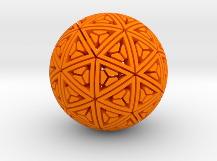 Soft-Boiled Geodesic (4.5cm) 3d printed