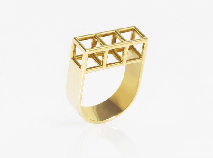 STRUCTURE Nº 5 RING 3d printed