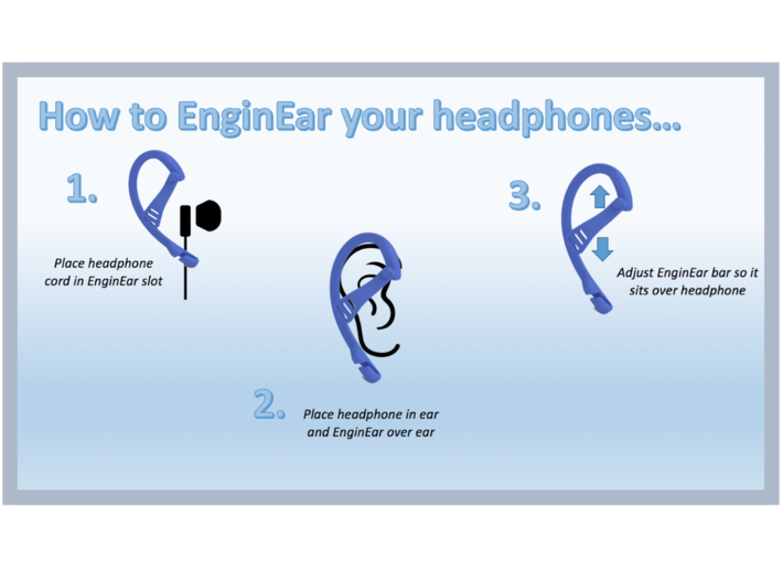 EnginEars- Active Earbud Adapters 3d printed