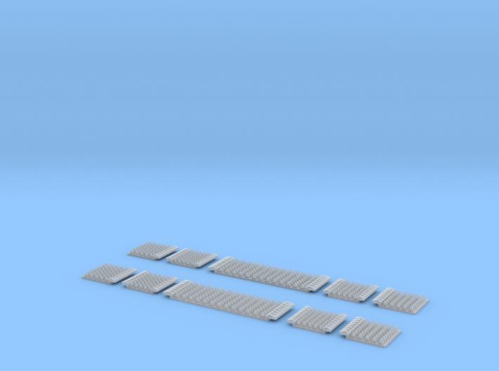 N Gauge Polymer Anti-trespass Panels Setrack 55 3d printed