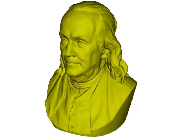 1/9 scale Benjamin Franklin bust 3d printed