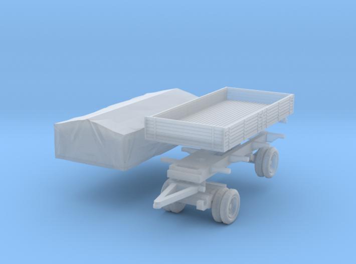 Pritschenanhänger mit Plane (N 1:160) 3d printed
