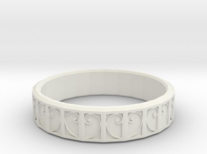 Fractal Curve Ring 18mm 3d printed
