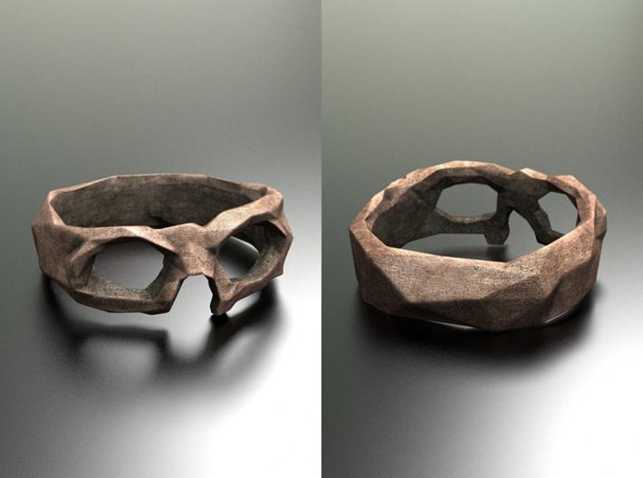 Polygonal skull ring: size 6.5 (US) M.5 (UK) 3d printed