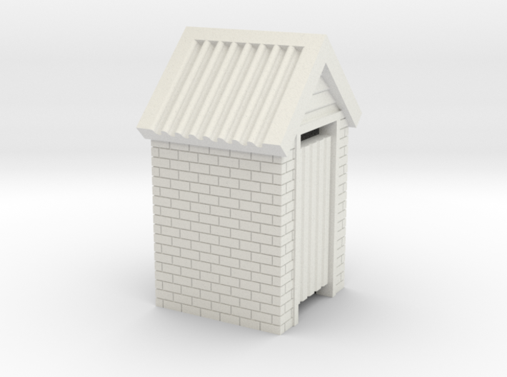 N Scale Brick Outdoor Toilet Dunny 1:160 3d printed