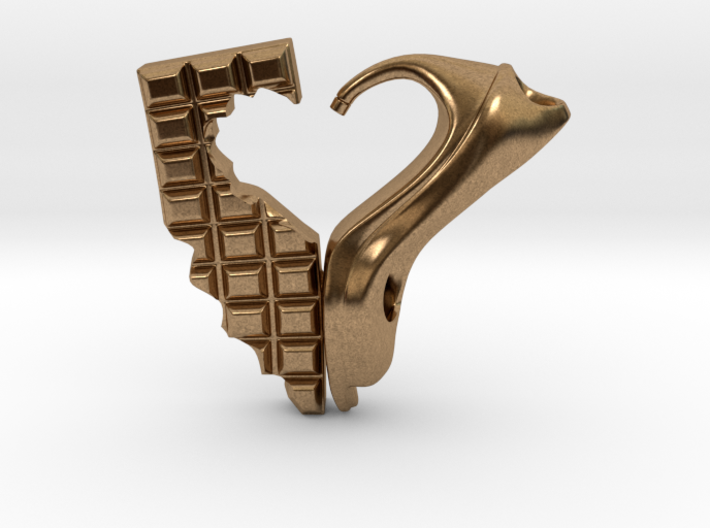 Shoe and Chocolate Pendant 3d printed