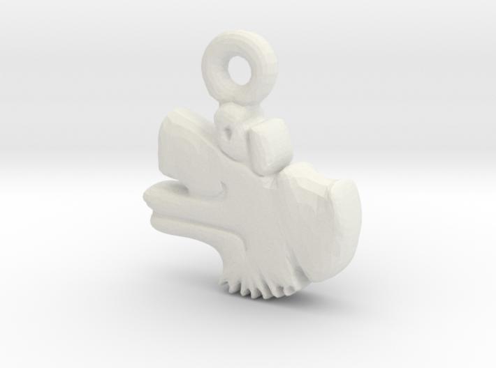 Aztec Wind Pendant 3d printed