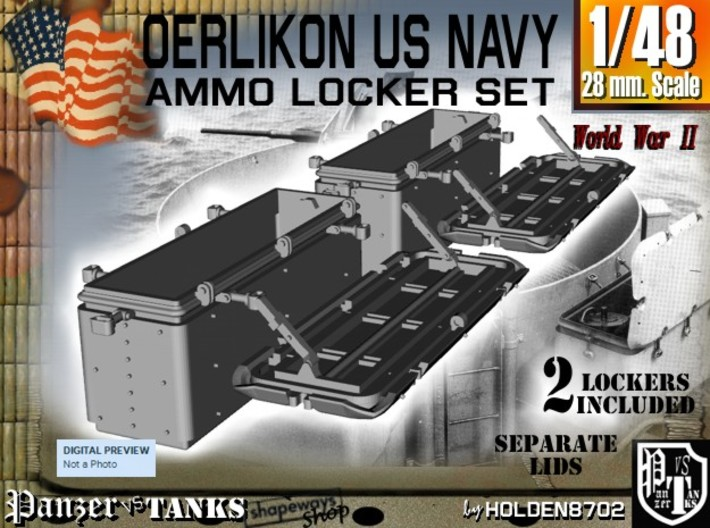 1/48 Oerlikon US Navy Ammo Locker Set 2 3d printed