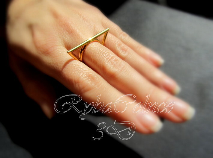 Ring The triangle II/ size 6 US (16.5 mm) 3d printed