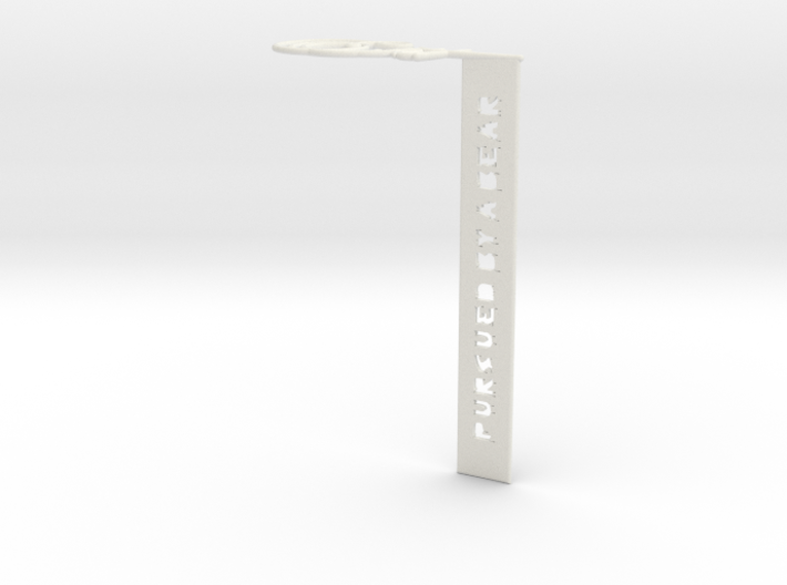 'Exit, Pursued By A Bear' bookmark 3d printed