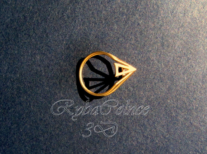 Ring  The Pyramid 7 US ( 17.35 mm) 3d printed