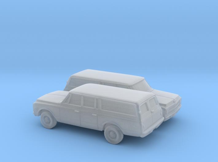 1/160 2X 1967-70 Chevrolet Suburban Split Rear Doo 3d printed
