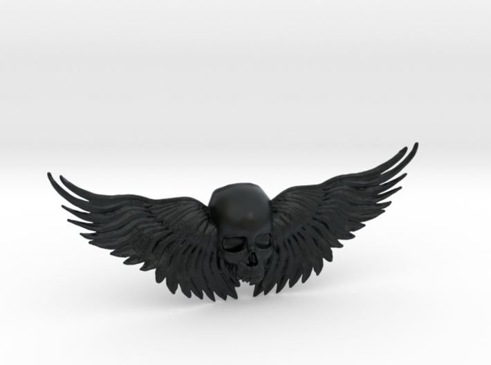 Winged Skull ring 3d printed
