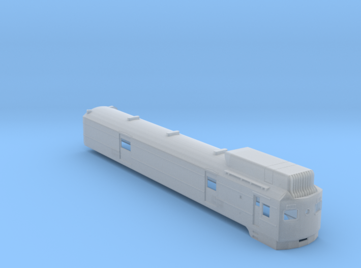 CNR D-1 Gas-Electric Car Body Shell (N Scale) 3d printed