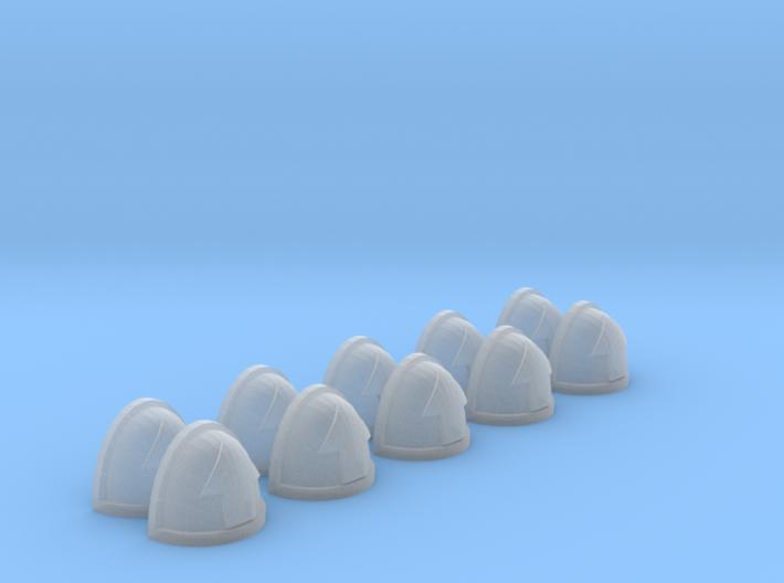 10 Shoulder Pads Arrow 3d printed