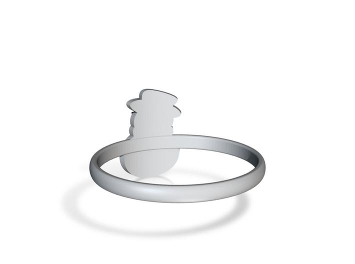 Snowman Ring US10 3d printed
