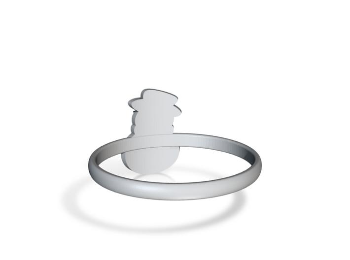 Snowman Ring Us10,5 3d printed