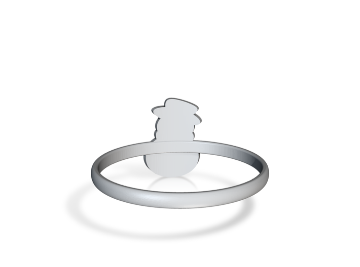 Snowman Ring US13 3d printed