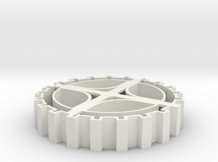 Steampunk gear Cookie Cutter 3 3d printed