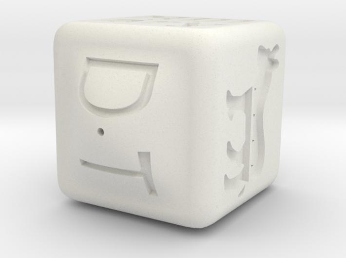 PE DICE 30 OneSide ThinInner 3d printed