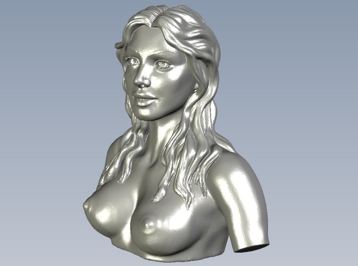 1/9 scale sexy topless girl bust A 3d printed