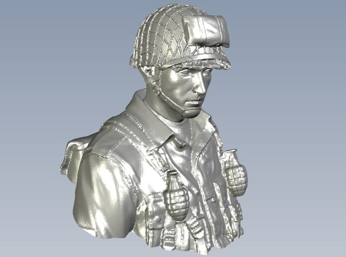 1/9 scale D-Day US Army 101 Airborne soldier bust 3d printed