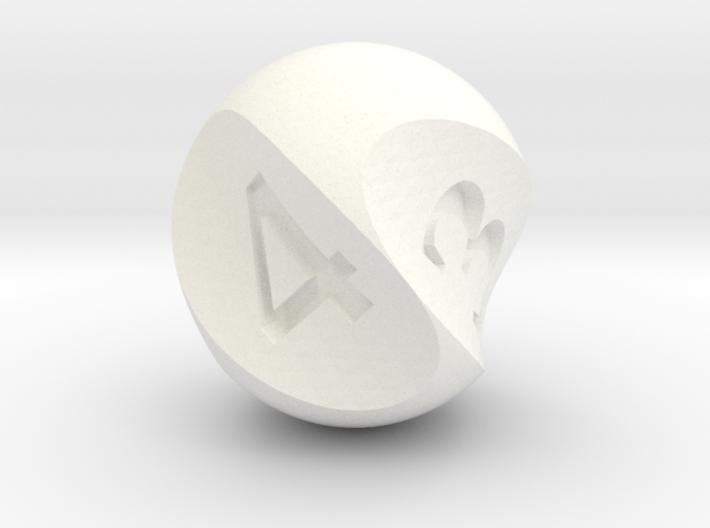 Twirly d4 3d printed