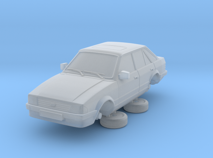 Ford Escort Mk3 1-87 4 Door Standard 3d printed