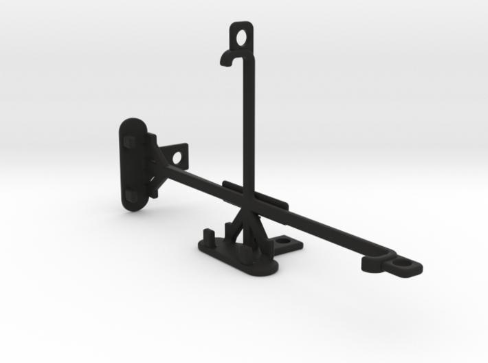 HTC One E9 tripod & stabilizer mount 3d printed
