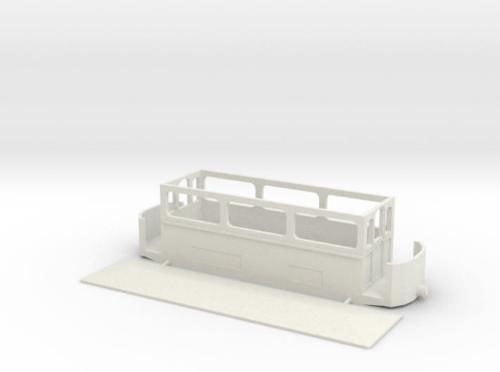 Volk's Car 5 (The Winter Car) 4mm (009) 3d printed White Strong and Flexible
