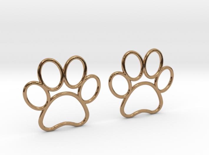 Paw Print Earrings - Large 3d printed