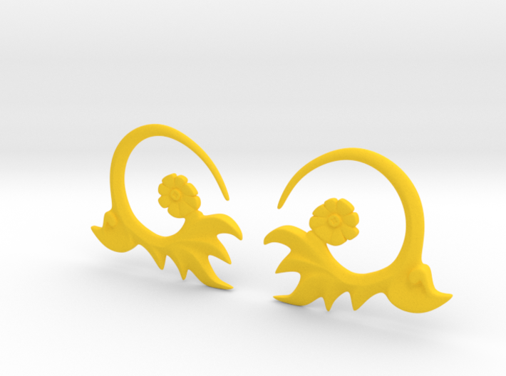 FlowEar 3d printed Flower earing for 4 mm