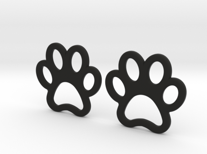 Paw Print Earrings - Small 3d printed