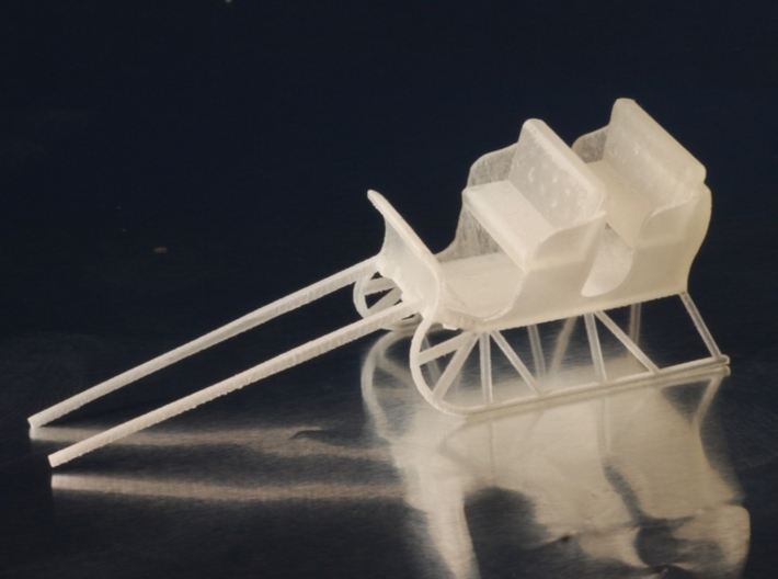 Sleigh HO Scale 3d printed