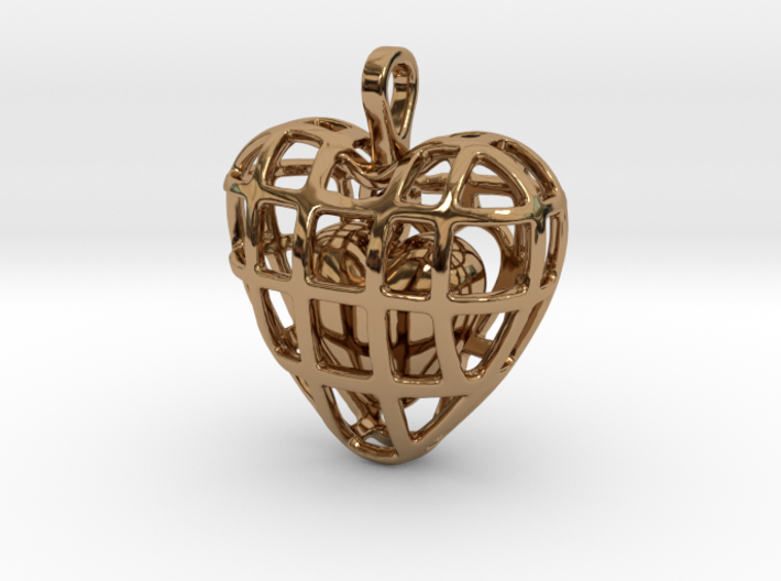 Touch Of The Heart Pendant 3d printed