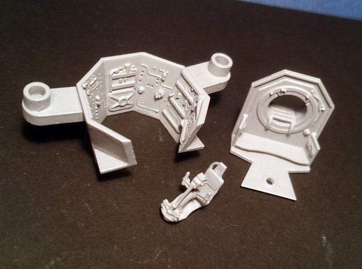 YT1300 BANDAY 1/144 TURRET WELL 3d printed