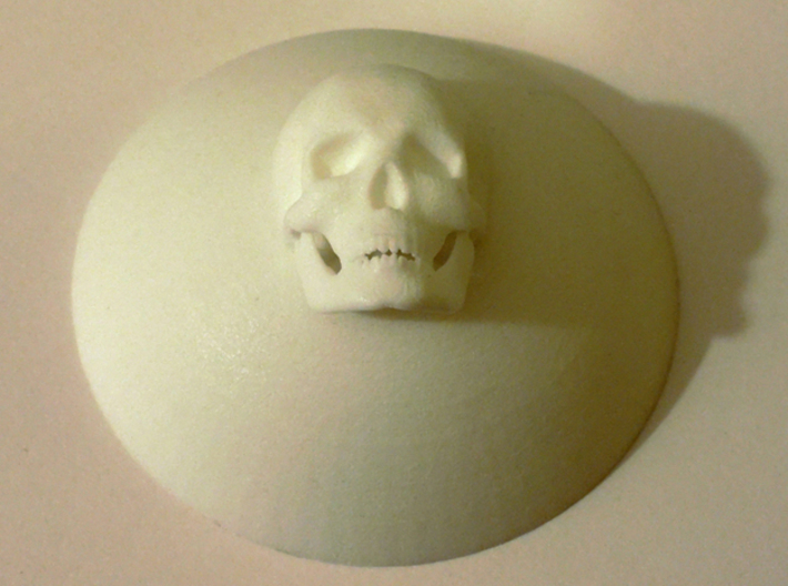 Skullcenters 3d printed raw from Shapeways