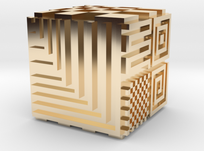 Opical Art Cube 3d printed