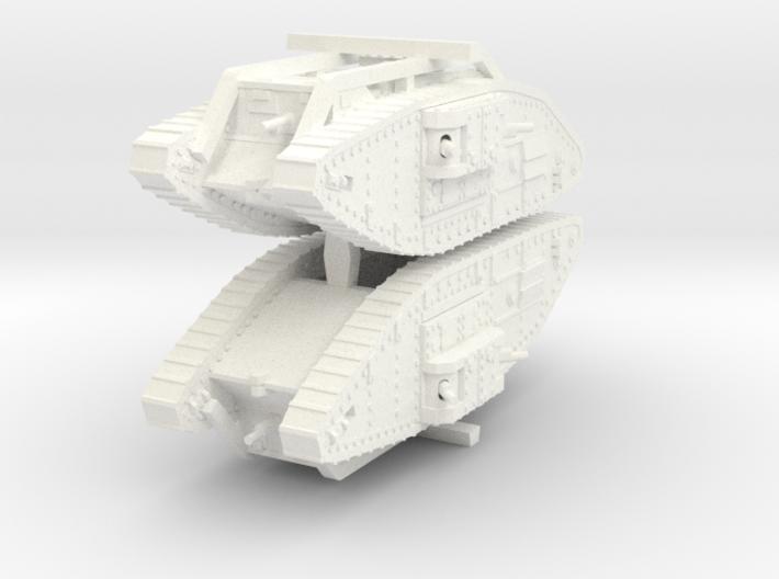 1/144 scale Mark V Female 3d printed