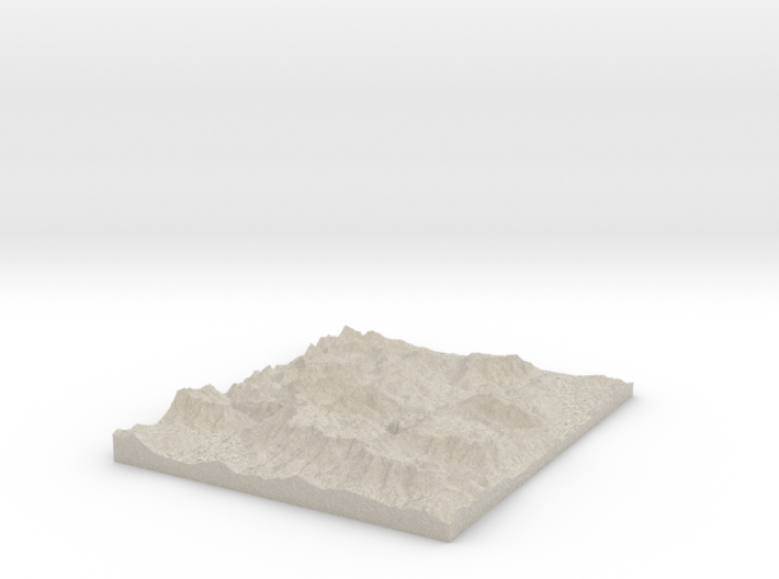 Model of Berchtesgaden Alps 3d printed