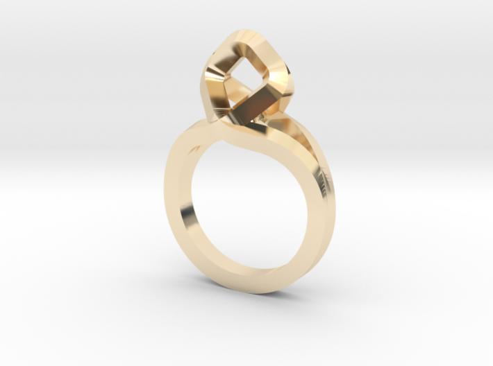 Sharp Rhythm Ring, us size 5 ,d=15,5 mm 3d printed
