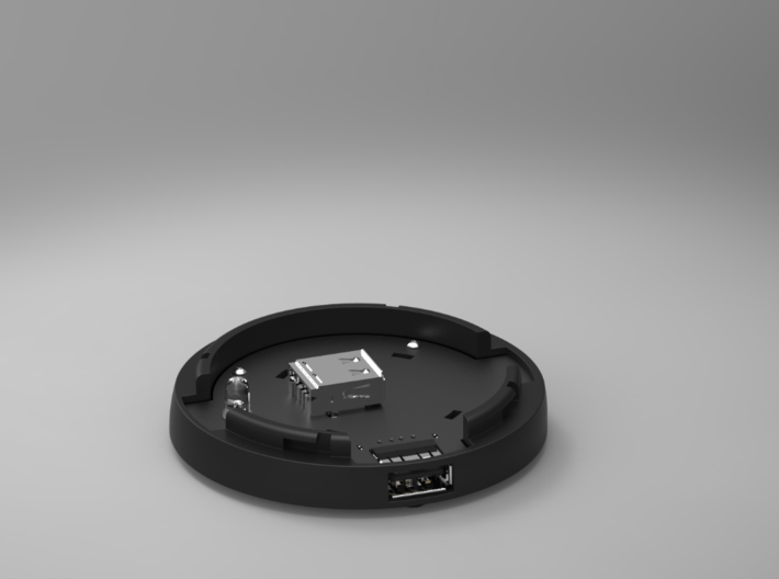PCB Of The SmartDock  for AppleWatch 3d printed Bottom + PCB