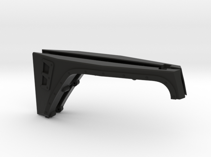 AJ10023 Smittybilt XRC JK Front Fenders 3d printed Parts as they come from Shapeways