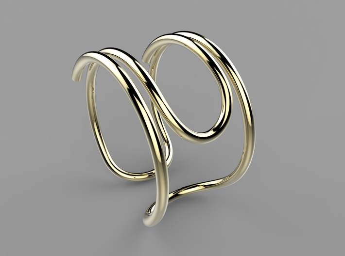 Paperclip Ring 3d printed