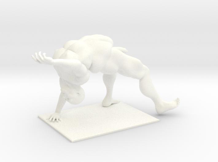 Older Man Dancing in the nude 3d printed