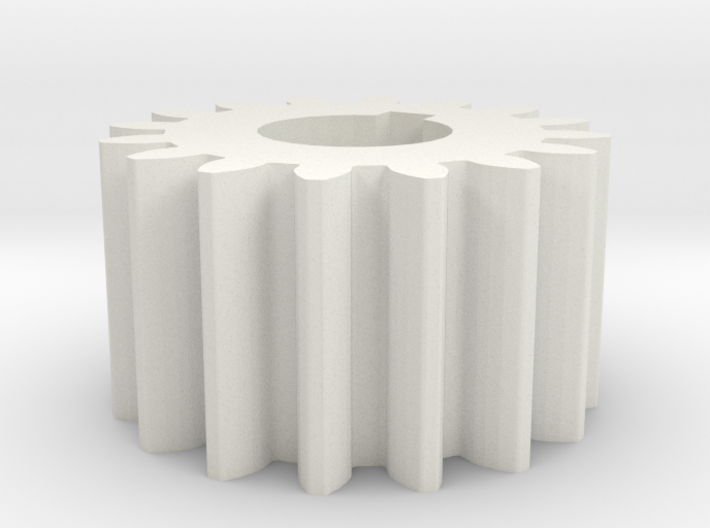Cylindrical gear Mn=1 Z=16 AP20° Beta0° b=10 HoleØ 3d printed