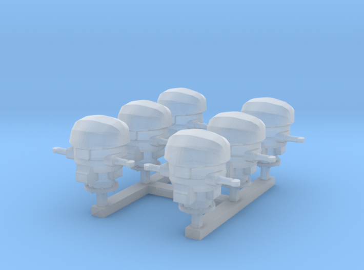 1/350 RN WW2 HACS MKIII Covered (6) 3d printed 1/350 RN WW2 HACS MKIII Covered (6)