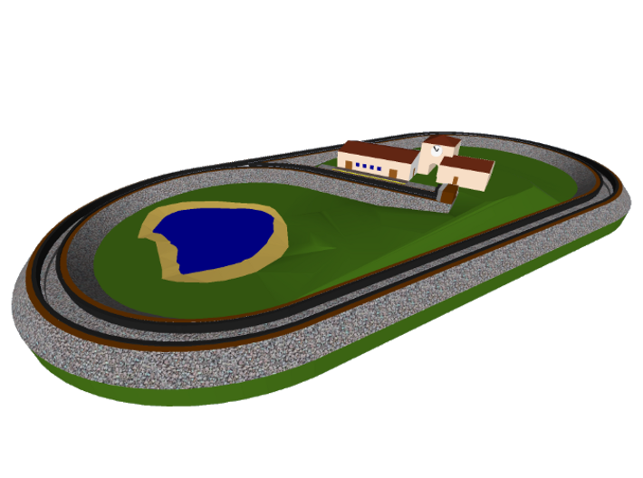 Complete oval layout 3d printed Complete oval layout (currently available in one color sandstone only)