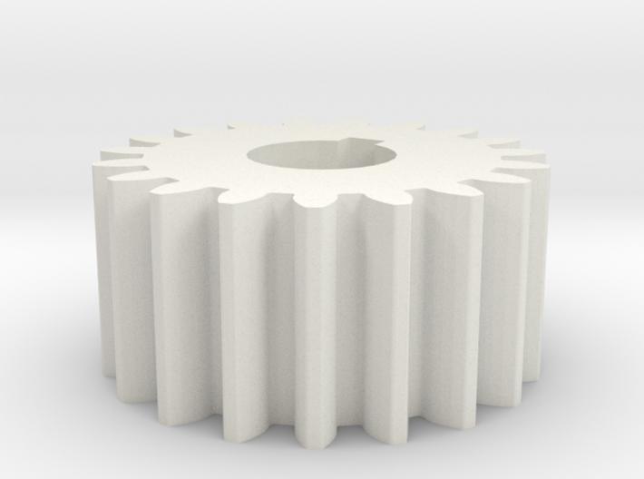 Cylindrical gear Mn=1 Z=19 AP20° Beta0° b=10 HoleØ 3d printed