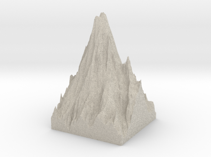 Model of Mount Rainier 3d printed